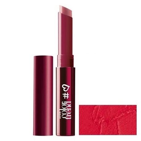 AVON Color Trend Kremowa szminka o półmatowym wykończeniu - Red (1)