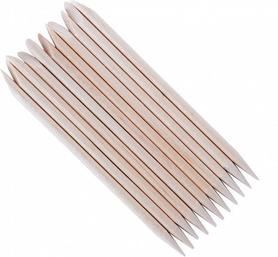 Patyczki drewniane dwustronne do manicure i pedicure - 10 sztuk
