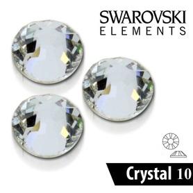 CYRKONIE SZLIFOWANE SS10 - CRYSTAL CLEAR - 100szt - szlif Swarovski