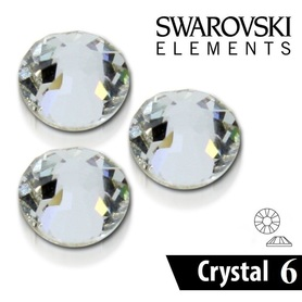 CYRKONIE SZLIFOWANE SS6 - CRYSTAL CLEAR - 100szt - szlif Swarovski