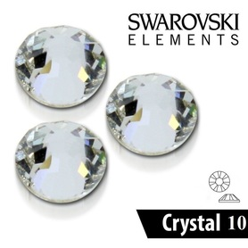 CYRKONIE SZLIFOWANE SS10 - CRYSTAL CLEAR - 50szt - szlif Swarovski