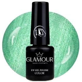 ♚15 Glamour - Lakier Hybrydowy [Silk Green - metaliczny]