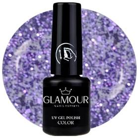 ♚126 Glamour - Lakier Hybrydowy [Glitter Lavende - brokatowy]