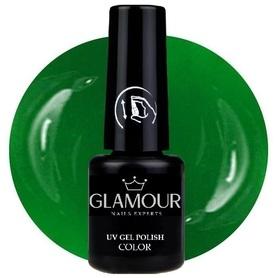 ♚87 Glamour - Lakier Hybrydowy [Silk Green]