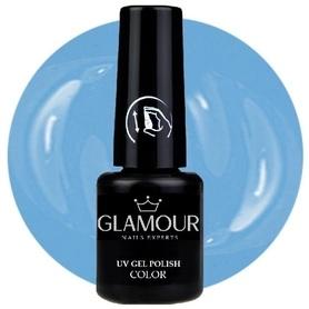 ♚140 Glamour - Lakier Hybrydowy [Sweet Blue]