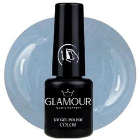 ♚180 Glamour - Lakier Hybrydowy [Weiss Blue]