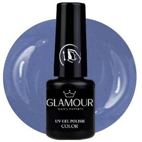 ♚181 Glamour - Lakier Hybrydowy [Pern Blue]