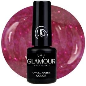 ♚125 Glamour - Lakier Hybrydowy [Glitter Red Weingo - brokatowy]