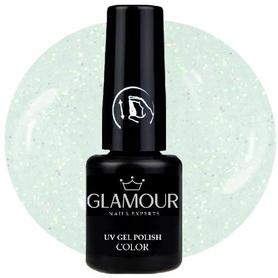 ♚173 Glamour - Lakier Hybrydowy [Glitter White Pearl - brokatowy]