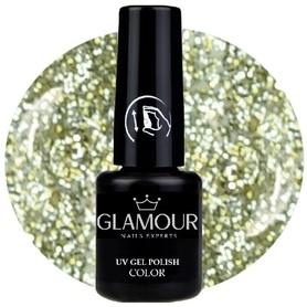 ♚164 Glamour - Lakier Hybrydowy [Glitter Italianisch Wein - brokatowy]