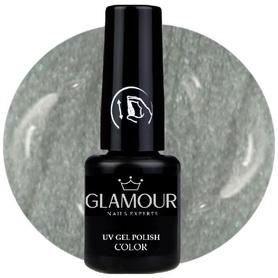 ♚148 Glamour - Lakier Hybrydowy [Metallic Silver Grey - Metaliczny]