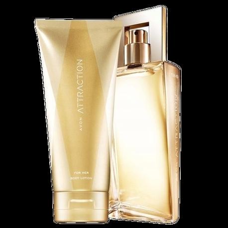 ZESTAW AVON Attraction [Perfumy + Balsam do ciała] (1)